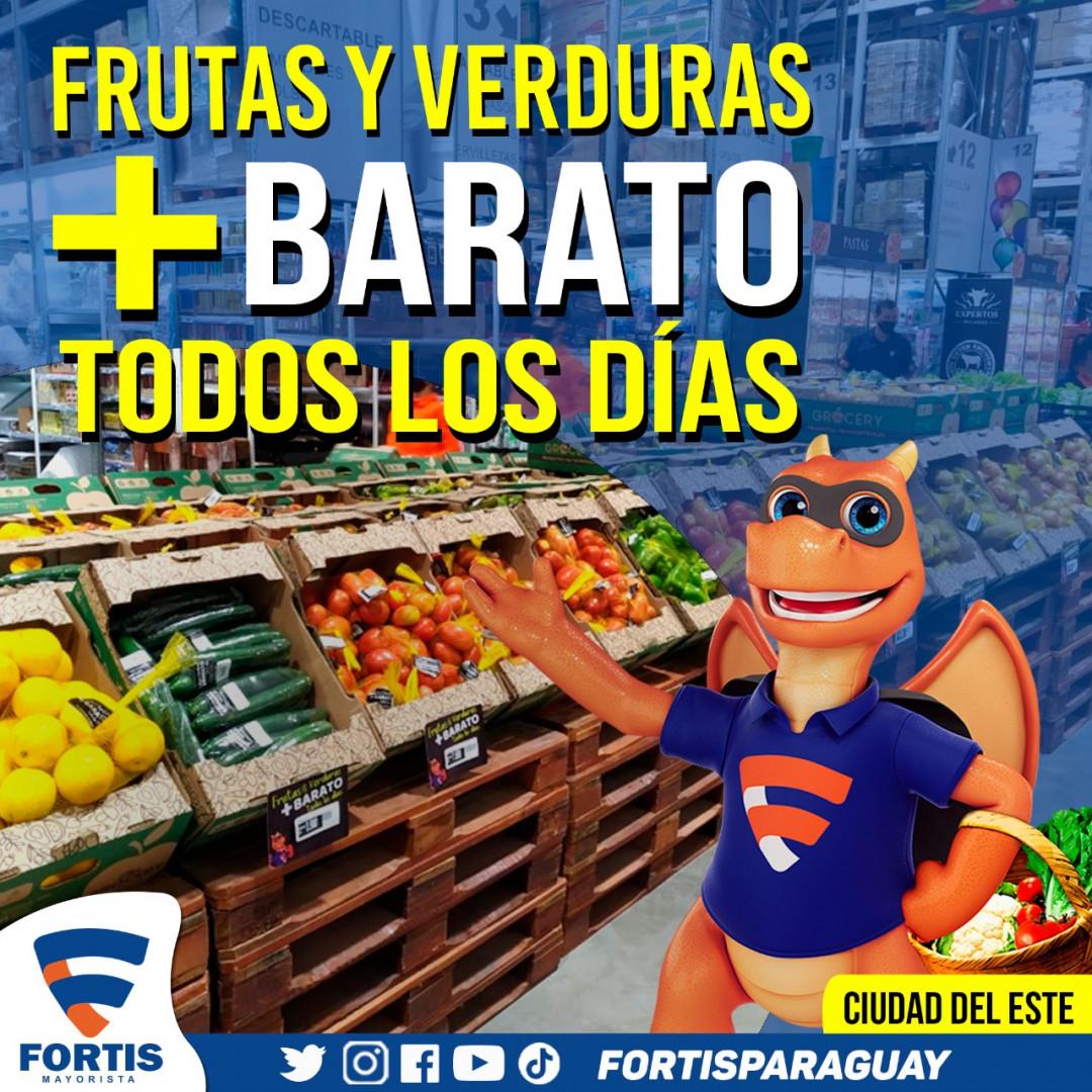 En Ciudad del Este ahora también ahorras en Frutas y Verduras.